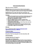 African Americans in Appalachia Lesson Plan