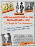 African-Americans in the Revolutionary War mini-unit, including text