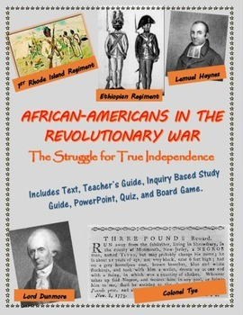 African-Americans in the Revolutionary War mini-unit, incl