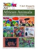 African Animal Bundle: Art Lessons for Grades 3-6