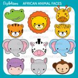 African Animal Faces Clipart   Safari Animal Masks