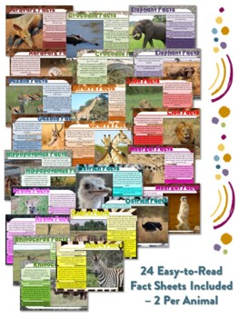 African Animal Flipbooks and Information Sheets