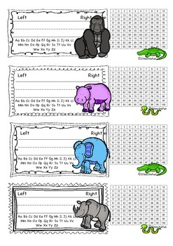 African Animal Name tags or Nameplates for Student Desks 2teach4fun