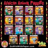 African Animal Puppets Craft Activity BUNDLE | Papercraft