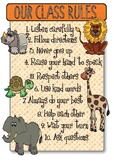 African Animal Theme Class Rules