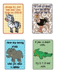 African Animal Theme Growth Mindset Posters