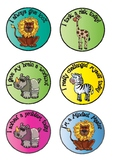 African Animal Theme Growth Mindset Stickers
