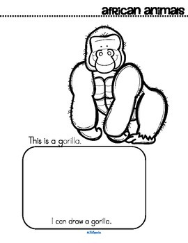 African Animals Activity Printables - Creative Coloring Book