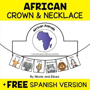 Necklace Craft - African Animals Activity