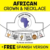 African Animal Activity Crown and Necklace