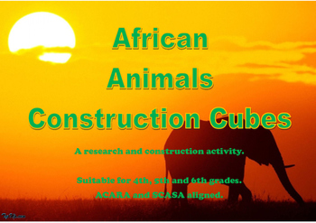 African Animals Construction Cubes