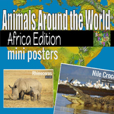 African Animals - Animals Around the World Mini Posters
