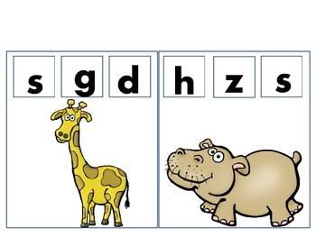 African Animals Beginning and Ending Sounds