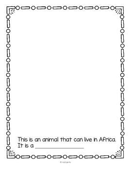 African Animals Bingo plus Printables for Preschool and Pre-K