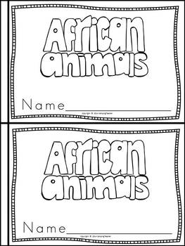 African Animals Book for Kindergarten and 1st Grade {Block Print Style}