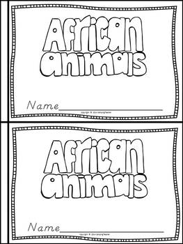 African Animals Book for Kindergarten and 1st Grade {D'Nealian Style}