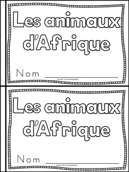 African Animals Book for Kindergarten and 1st Grade FRENCH VERSION {Block Print}