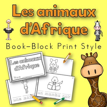 African Animals Book for Kindergarten and 1st Grade FRENCH