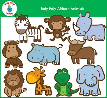 African Animals Clip Art