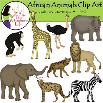 African Animals Safari Clip Art