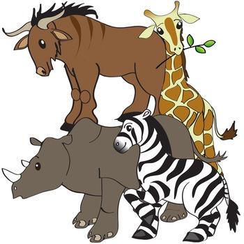 African Animals Clip Art - Serengeti Safari Clipart