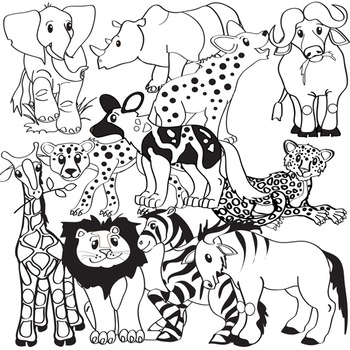 African Animals Clip Art - Serengeti Safari Clipart