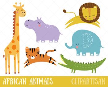 African Animals Clip Art, Safari Animals, Zoo Animals