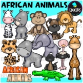 African Animals Clip Art Bundle {Educlips Clipart}