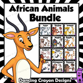 African Animals Clip Art BUNDLE | Cartoon Style Clipart