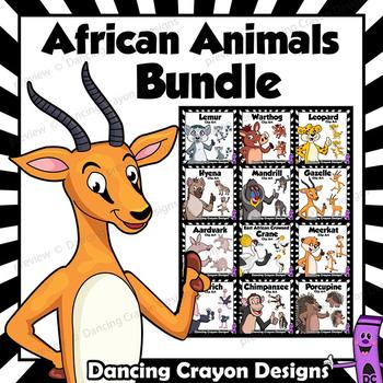 African Animals Clip Art BUNDLE | Cartoon Style Clipart