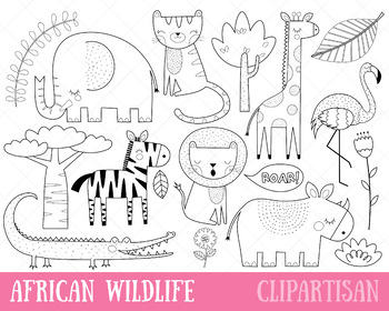 photograph regarding Printable Safari Animals identified as African Pets Clip Artwork Safari Pets Printable