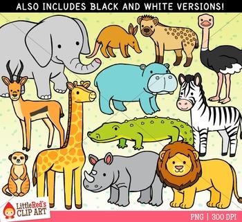 African Animals Clip Art