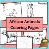 African Animals Coloring Sheets