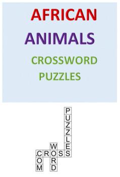 African Animals Crossword Puzzles