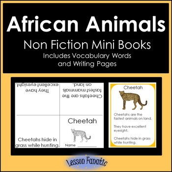 African Animals Non Fiction Mini Books
