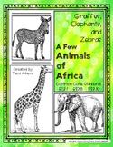 African Animals, Giraffes, Elephants, and Zebras