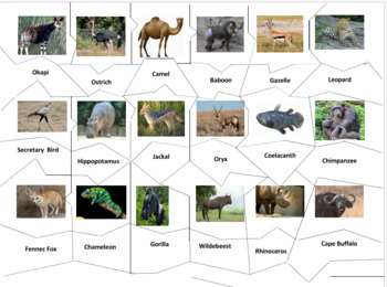 African Animals Jigsaw Puzzle
