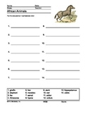 African Animals Printables and Worksheets Bundle