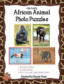African Animals Puzzle Photos