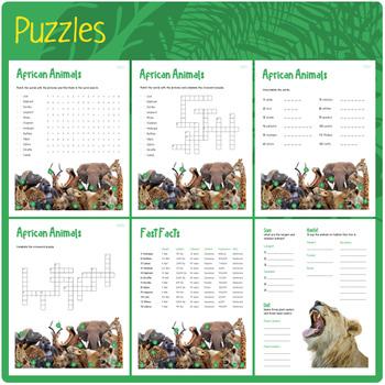 African Animals (Puzzles & Fun Stuff)