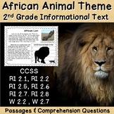 Informational Text African Animals RI 2.2, RI 2.8, RI 2.7, RI 2.7, RI 2.5&RI 2.9