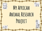 African Animals Research Sheets
