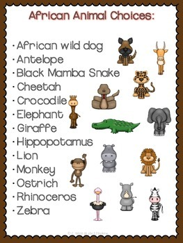 African Animals- Researching and Presenting Animal Reports Using QR Codes
