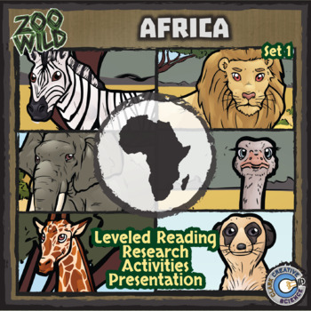 African Animals (Savanna) - Starter Bundle - Reading, Slides & Activities