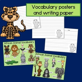 African Animals Sentence Picture Match Reading Center