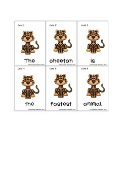 African Animals Sentence Unscramble