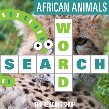 African Animals Word Search for Primary Grades - Wordsearch Puzzle