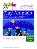 African Animals Art Lesson in Polymer Clay for Grades 3-6