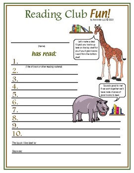 African Birds and Animals Reading Log and Certificate Set