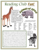 African Birds and Animals Word Search Puzzle - Africa Wildlife